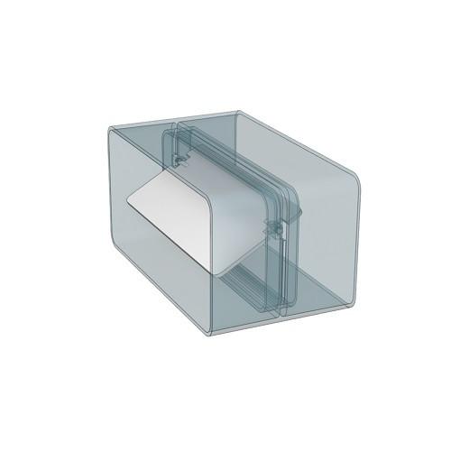 Соединитель плоских каналов с обратным клапаном 110x55