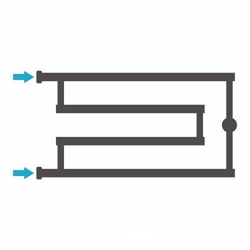 """Водяной полотенцесушитель Сунержа High-Tech model """"G"""" 320x650"""