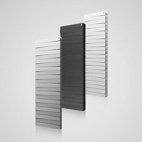 Биметаллический радиатор отопления Royal Thermo PianoForte Tower Silver Satin 18 секций