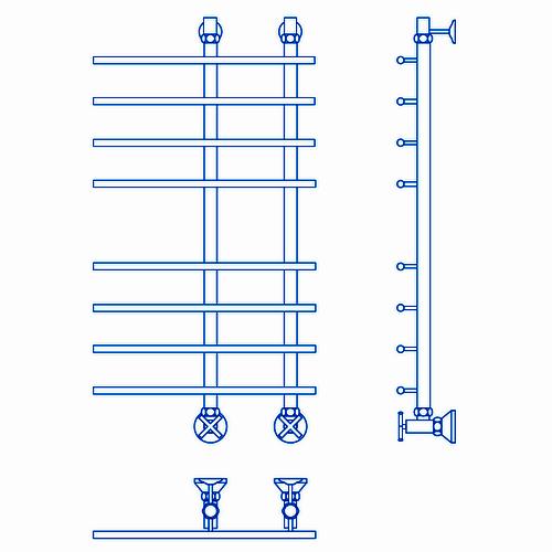 Водяной полотенцесушитель Маргроид Вид 63 Премиум 80x15х50