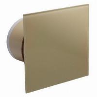 Бытовой вентилятор MMotors JSC MM-P UE 100, сверхтихий, стекло квадрат, золото