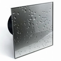 Бытовой вентилятор MMotors JSC MM-P UE 100, сверхтихий, стекло квадрат, сталь с каплями