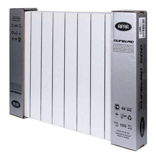 Биметаллический радиатор отопления Rifar SUPReMO 500 9 секций