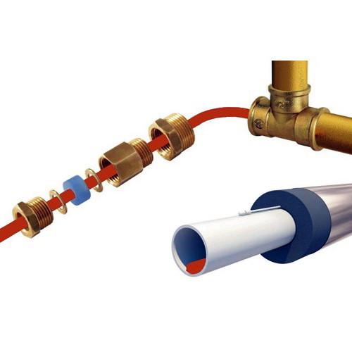 Саморегулирующийся кабель в трубу PerfectJet - 1 метр с муфтой (готовый комплект)