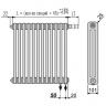 Стальной трубчатый радиатор отопления BEMM 3056.C4 22 секции