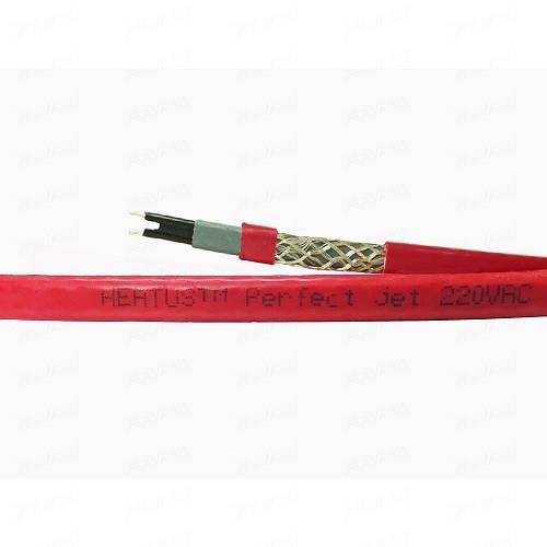 Саморегулирующийся кабель в трубу PerfectJet - 4 метра с муфтой (готовый комплект)