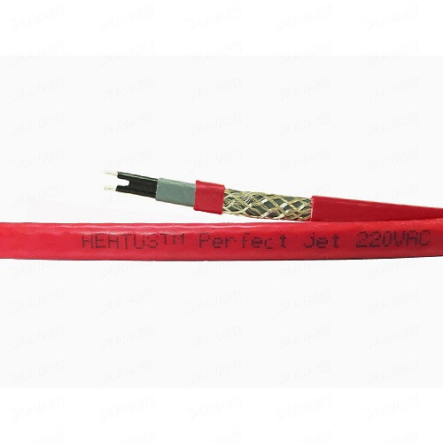 Саморегулирующийся кабель в трубу PerfectJet - 5 метров с муфтой (готовый комплект)