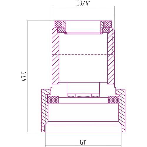 Комплект переходной для радиатора Эстет