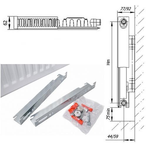 Стальной панельный радиатор отопления Axis Classic 11 500х1400