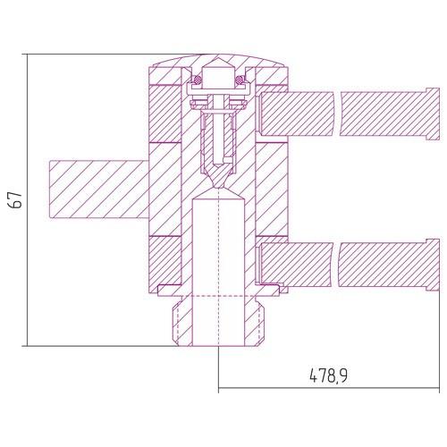 Полотенцедержатель 360 L = 500 мм х 2