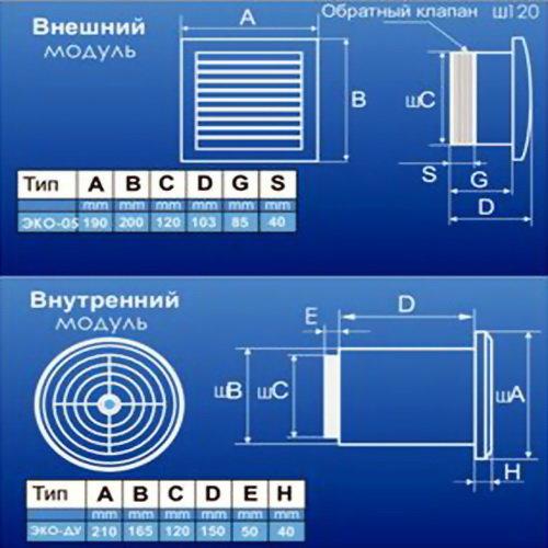 Компактная приточная установка MMotors JSC Эко-Свежесть 05-ИД