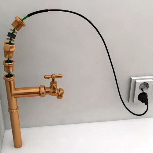 Саморегулирующийся кабель в трубу Heatus 13Вт 4 метра с муфтой