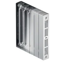 Биметаллический радиатор отопления Rifar SUPReMO 500 4 секции
