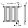 Стальной трубчатый радиатор отопления BEMM 2050.C4 22 секции