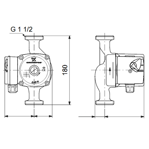 Насос циркуляционный Grundfos UPS 25-40 180