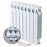 Биметаллический радиатор отопления Rifar Monolit Ventil 500 10 секций