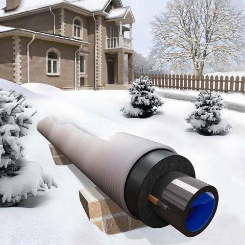 Саморегулирующийся кабель для обогрева труб Freezstop 25Вт 2 метра (готовый комплект)