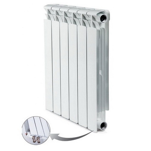 Биметаллический радиатор отопления Rifar Alp Ventil 500 8 секций