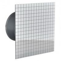 Бытовой вентилятор MMotors JSC MM-P 06 UE 100, сверхтихий, стекло квадрат, мозаика хром