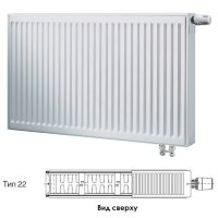 Стальной панельный радиатор отопления Buderus Logatrend VK-Profil Тип 22, высота 400 мм, ширина 2000 мм