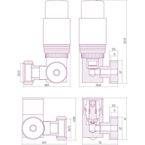 Автоматический терморегулятор 3D левый