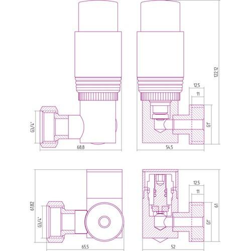 Автоматический терморегулятор 3D правый