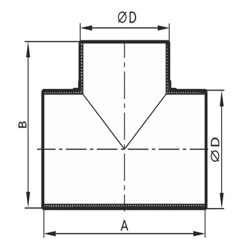 Тройник Т-образный круглый D100