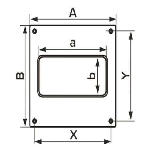 Накладка торцевая 150х150 для прямоугольного воздуховода 60х120