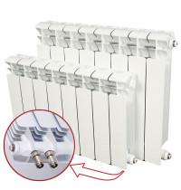 Биметаллический радиатор отопления Rifar Base Ventil 350 14 секций