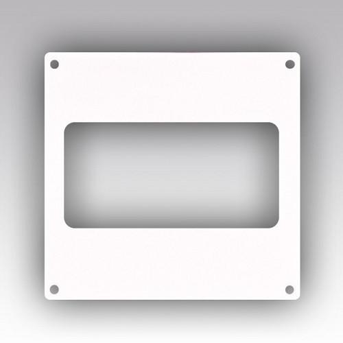 Накладка торцевая 264х119 для прямоугольного воздуховода 60х204