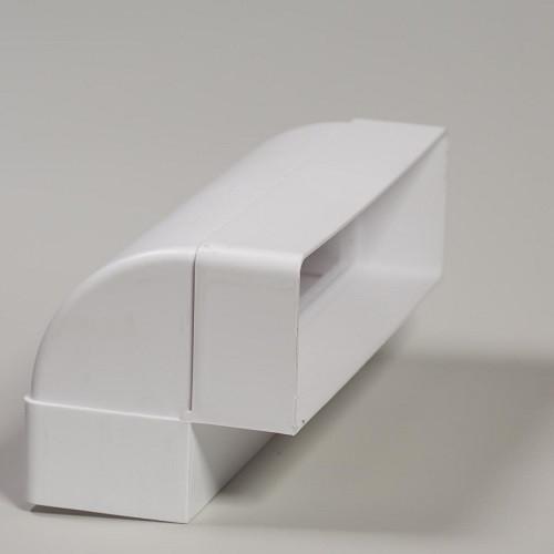 Колено вертикальное плоское 90° 60x120