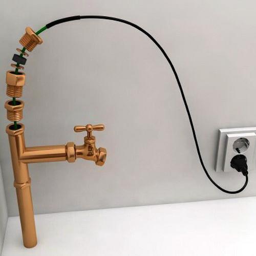 Саморегулирующийся кабель в трубу PerfectJet - 30 метра с муфтой (готовый комплект)