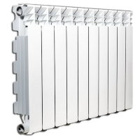 Алюминиевый радиатор отопления Fondital  Exclusivo B4 350/100 10 секций