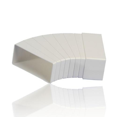 Колено разноугловое горизонтальное 60x204