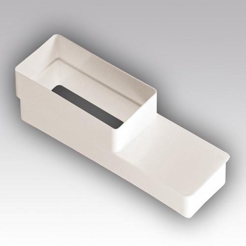 Соединитель эксцентриковый плоского воздуховода с плоским 110x55/220x55