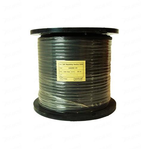 Саморегулирующийся кабель для обогрева труб Heatus GSR2-CR 24Вт с экраном (на отрез)