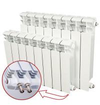 Биметаллический радиатор отопления Rifar Base Ventil 350 9 секций