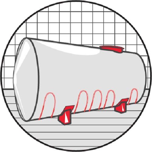 Саморегулирующийся кабель SVOHEAT 17-12CF 17Вт/м с оболочкой из фторполимера (на отрез)