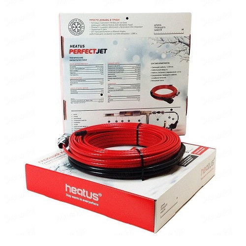 Саморегулирующийся кабель в трубу PerfectJet - 37 метров с муфтой (готовый комплект)