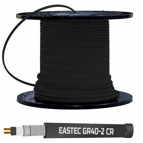 Cаморегулирующийся кабель для обогрева кровли EASTEC GR 40-2 CR М=40Вт с экраном и УФ защитой (на отрез)