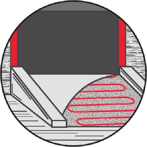 Саморегулирующийся кабель для обогрева открытых площадок 80EYGSR2-CR 80Вт с экраном (на отрез)