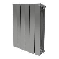 Биметаллический радиатор отопления Royal Thermo PianoForte 500 Silver Satin 6 секций