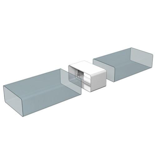 Соединитель каналов прямоугольный 110x55