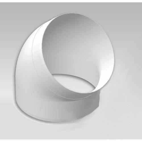 Колено 45°, для круглых воздуховодов D125