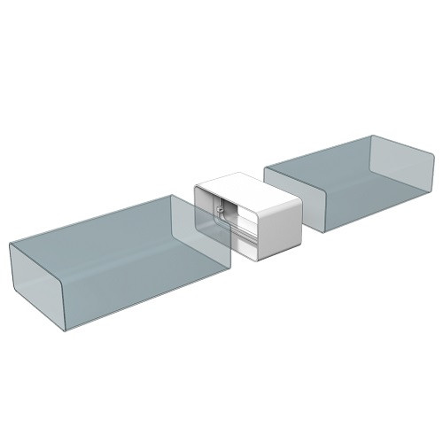 Соединитель каналов прямоугольный 120x60